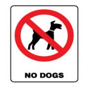 Prohibition safety sign - No Dogs 163